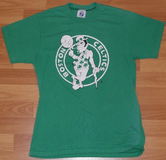 Vintage 1980's BOSTON CELTICS NBA Logo 7 T-Shirt Basketball