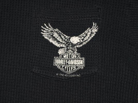 Harley Davidson waffle pocket t-shirt St. Charles Missouri