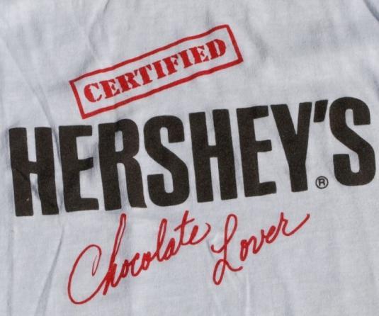 Vintage HERSHEY Chocolate Lovers White T Shirt