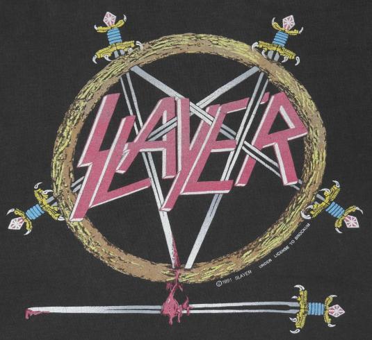Vintage 1991 SLAYER HELL AWAITS Heavy Metal T-Shirt