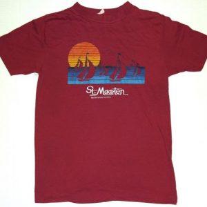 VTG 1980s St Marteen Netherlands Antilles Sunset Beach Shirt