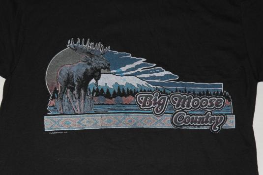 VTG 1980s Big Moose Country Mountain Lake T-Shirt NEVER WORN