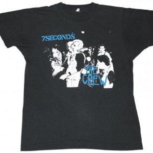 Vintage 1984 7 SECONDS Punk The Crew 1980s Rock T-Shirt
