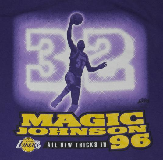 Vintage 1990's Magic Johnson LA Lakers Los Angelas T-Shirt