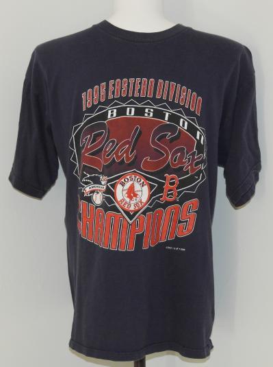Vintage 1995 BOSTON RED SOX Baseball T-Shirt East Champs 90s