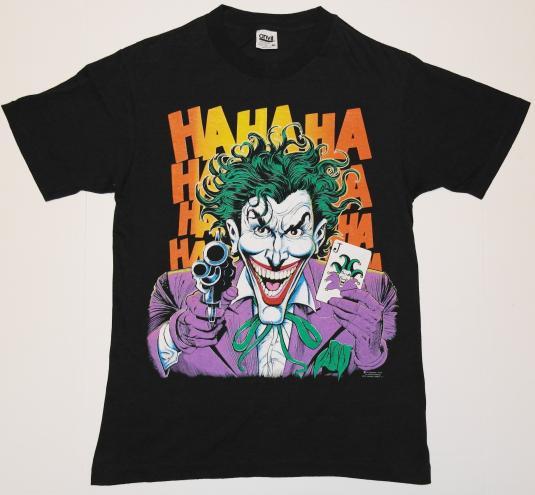 Vintage 1980s The Joker Batman Ha Ha Ha T-Shirt Never Worn