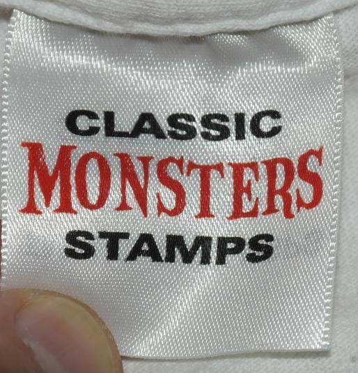 Vintage Frankenstein Boris Karloff Monster Stamp T-Shirt