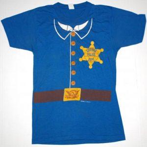 Vintage 1980s Keystone Cops Police Costume T-Shirt 1985