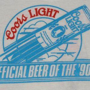 Vintage Coors Light Beer 1991 Marathon T-Shirt