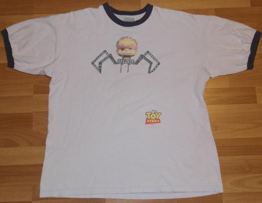VTG 90s Stanley Desantis TOY STORY SPIDER BABY Face T-Shirt
