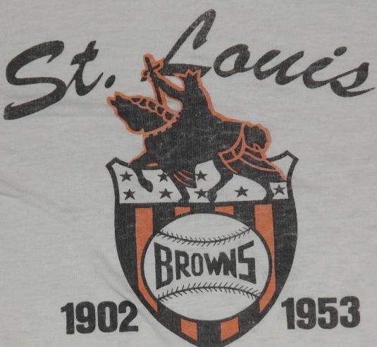 Vintage 1980's ST LOUIS BROWNS Paper Thin Baseball T-Shirt