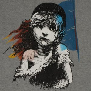 Vintage 1986 Les Miserables Broadway T-Shirt 1980s