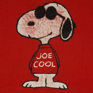 Vintage 1980s Snoopy Joe Cool Red T-shirt 80s