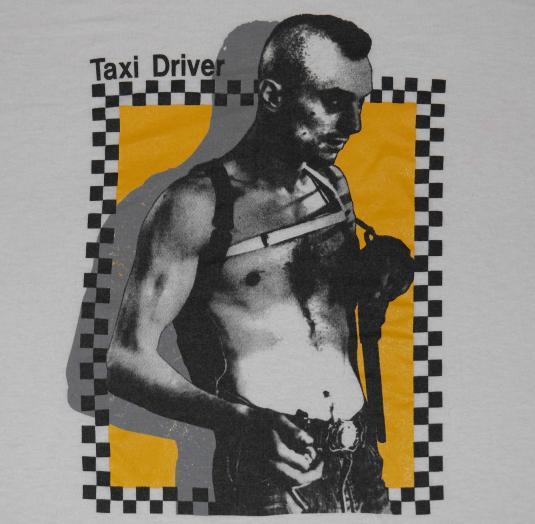 Vintage 1980s TAXI DRIVER Movie T-Shirt ROBERT DENIRO 80s