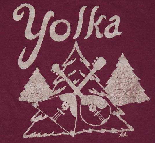 Vintage 1970s YOLKA Tree Russian New Years T-Shirt 70s