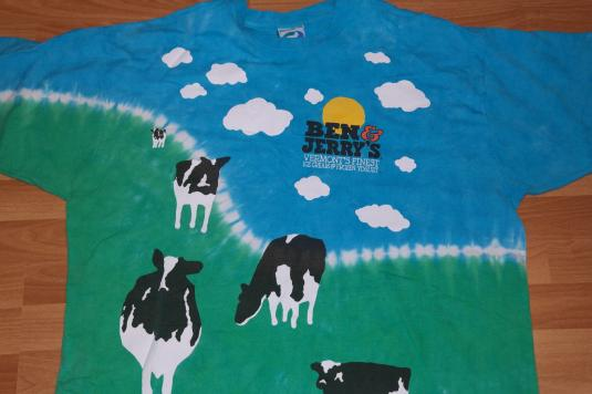 Vintage 1990s Liquid Blue BEN & JERRY Ice Cream Cow T-Shirt