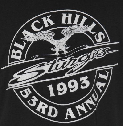 Vintage 1993 STURGIS Biker Motorcycle Bald Eagle T-Shirt