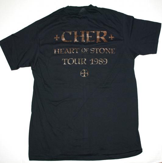 VTG 1989 CHER Heart & Stone Concert Tour T-Shirt Never Worn
