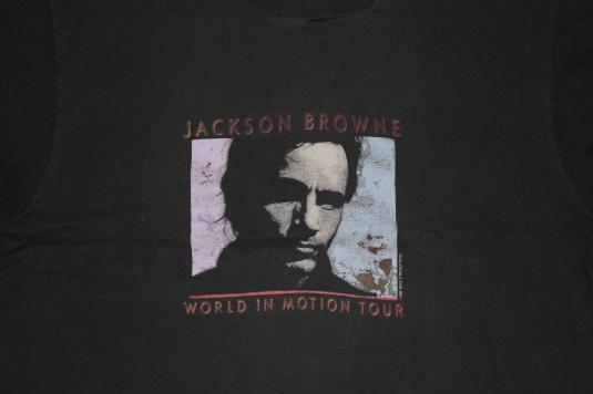 Vintage 1989 JACKSON BROWNE World In Motion T-Shirt