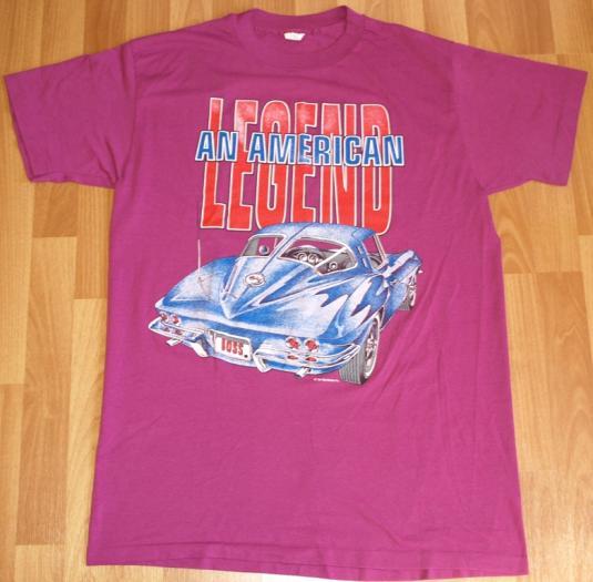1980s Purple Chevrolet Corvette T-Shirt 50/50