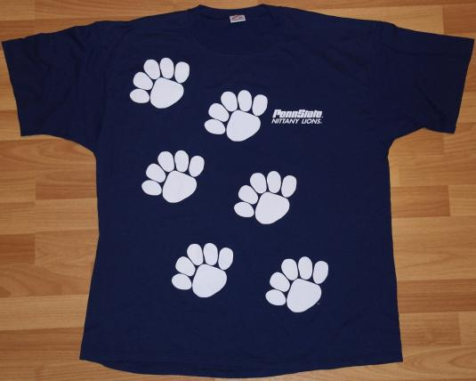 Vintage 1980's PENN STATE Nittany Lions Paw T-Shirt