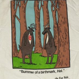 Vintage 1988 The Far Side Funny Hunting Novelty T-Shirt