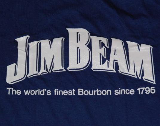 Vintage 1980s JIM BEAM Bourbon Whiskey Alcohol Logo T-Shirt
