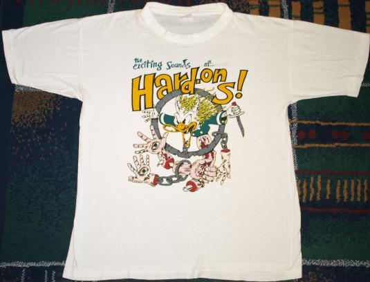 VINTAGE 1990's 1991 THE HARD ONS Concert Tour T-Shirt