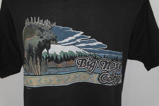 Vintage 1980s Big Moose Country T-Shirt Mountains Tee Shirt