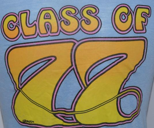 Vintage 1970s CLASS OF '77 Soft Thin T-Shirt 70s