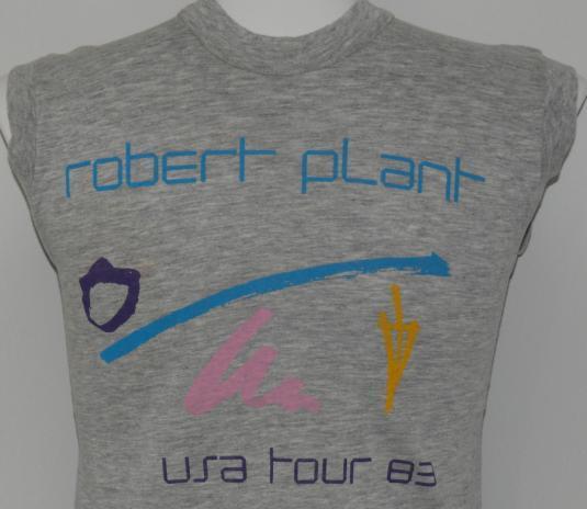 VTG 1983 Robert Plant Led Zeppelin Concert Tour T-Shirt