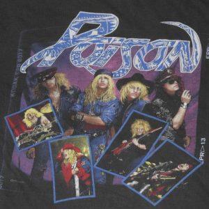 Vintage 1988 POISON Open Up & Say Ah Concert Tour T-Shirt