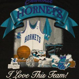 Vintage 1990's CHARLOTTE HORNETS T-Shirt DEADSTOCK