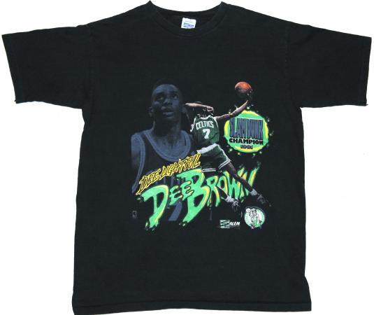 Vintage 1991 DEE BROWN BOSTON CELTICS Slam Dunk T-Shirt 90s