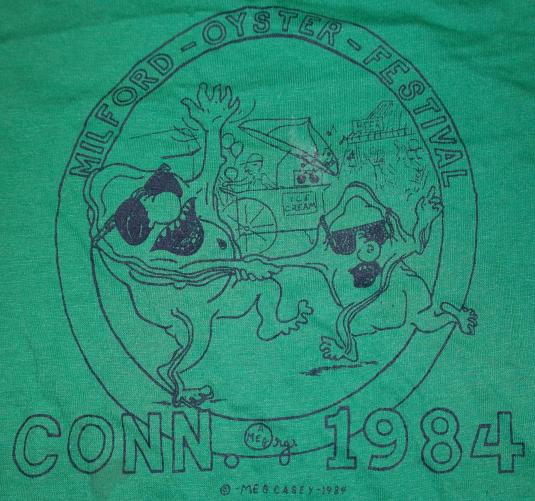 Vintage 1984 Milford Connecticut OYSTER FESTIVAL 80s T-Shir