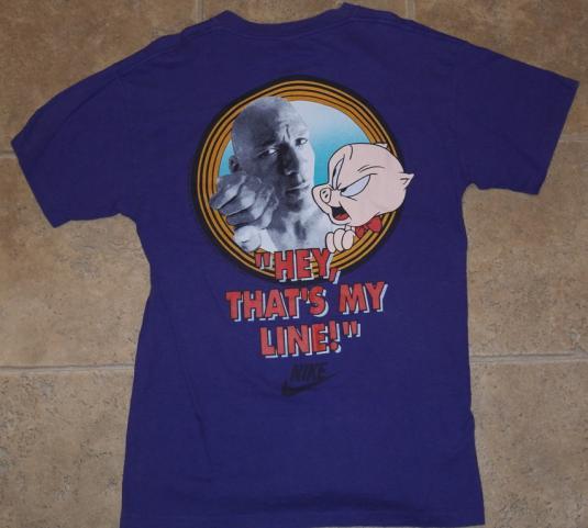 VTG 1991 Looney Tunes Porky Pig Michael Jordan NIKE AIR Tee