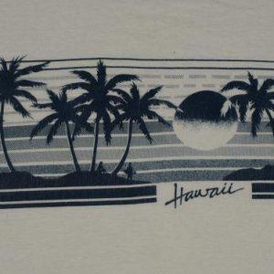 vintage 1980s Hawaii Ringert T-Shirt Beach Palm Trees 80s