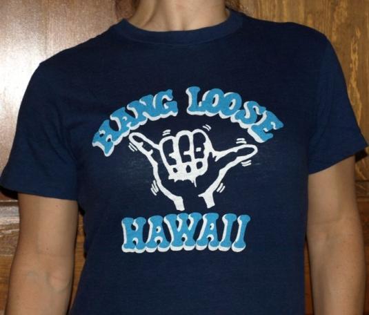 Vintage 1980s HANG LOOSE HAWAII T Shirt