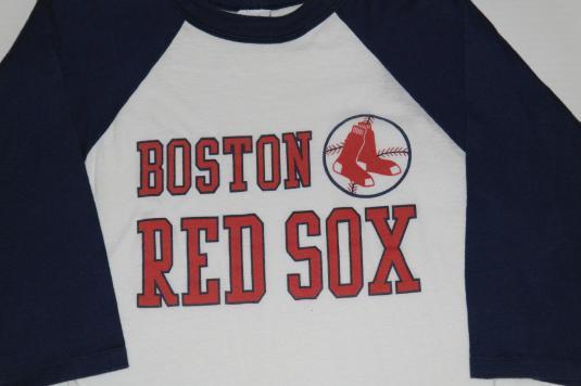 Vintage 1980s Boston Red Sox Baseball Raglan Shirt MLB
