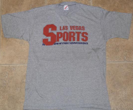 Vintage 1980s Original Las Vegas Sports Grey Gray T-Shirt