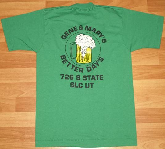 VTG 1980s Gene and Mary's Salt Lake City SLC Beer T-Shirt