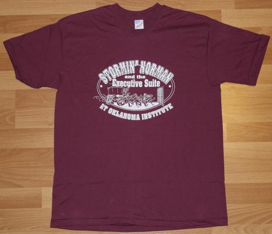 Vintage 1980s Stormin Norman Oklahoma Cowboy T-Shirt