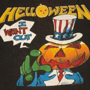 Vintage 1980s HELLOWEEN Metal European Concert Tour T-Shirt