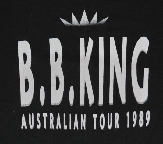 Vintage 1989 BB King Australian Tour T-Shirt 1980s