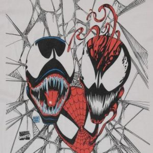 VINTAGE 1992 SPIDEY & VENOM MARVEL COMICS Spiderman T-Shirt