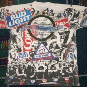 Vintage 1992 Hartford Bud Light Triathlon Coke T-Shirt
