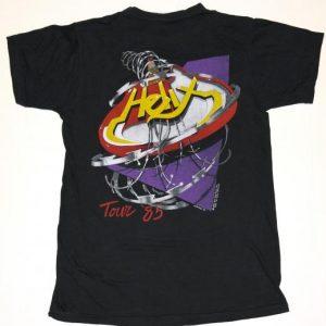 Vintage 1985 HELIX Heavy Metal Concert Tour T-Shirt 80s RARE