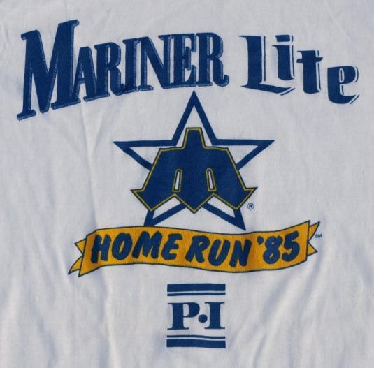 Vtg 80s SEATLE MARINERs Lite Beer Raglan Shirt Never Worn