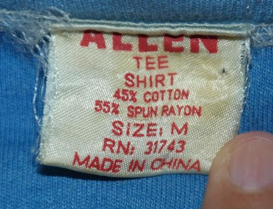 Vintage 1970s Funny Utah Blue Rayon T-Shirt