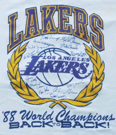 Vintage 1988 Back to Back LOS Angeles LAKERS Shirt LA NBA